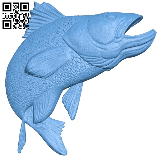 Salmon A006056 download free stl files 3d model for CNC wood carving