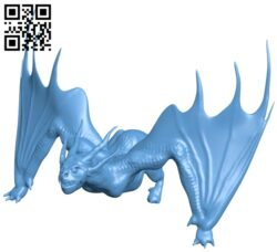 Scary dragon B009099 file obj free download 3D Model for CNC and 3d printer