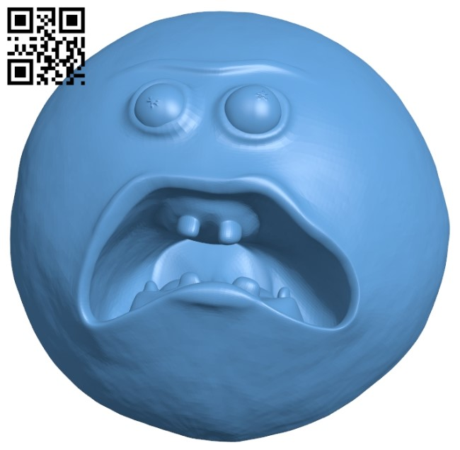 Screaming Sun B009135 file obj free download 3D Model for CNC and 3d printer