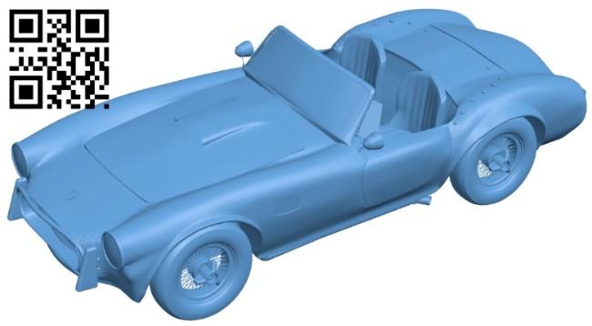Shelby cobra - car B009215 file obj free download 3D Model for CNC and 3d printer