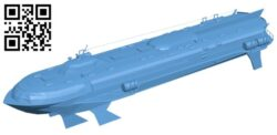 Ship meteor B009048 file obj free download 3D Model for CNC and 3d printer