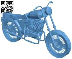 Simple bike B009088 file obj free download 3D Model for CNC and 3d printer