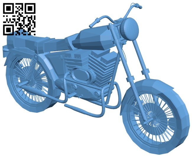 Simple bike B009088 file obj free download 3D Model for CNC and 3d printer