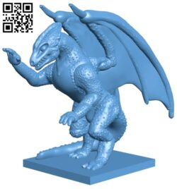 Small dragon B009198 file obj free download 3D Model for CNC and 3d printer