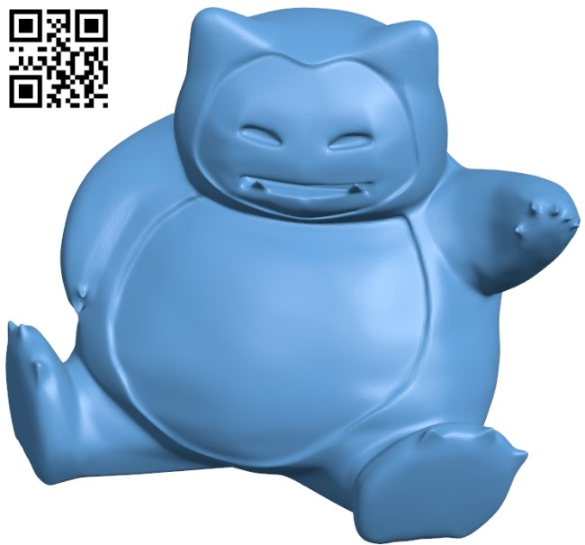 Snorlax B009148 file obj free download 3D Model for CNC and 3d printer
