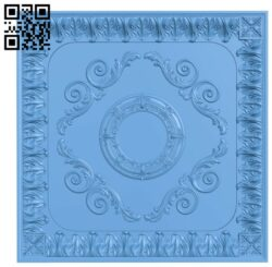 Square pattern A006001 download free stl files 3d model for CNC wood carving