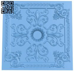 Square pattern A006002 download free stl files 3d model for CNC wood carving
