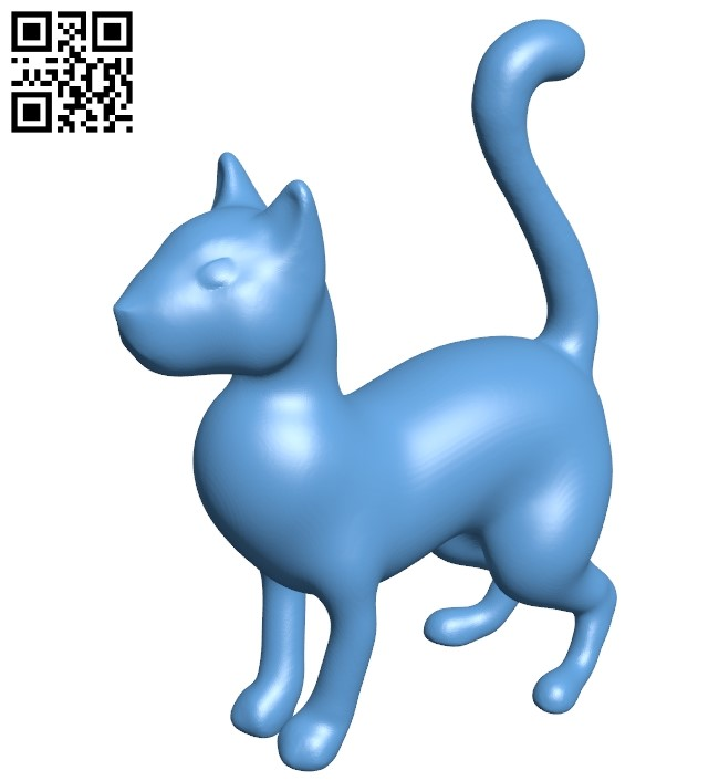 Standing Cat B009199 file obj free download 3D Model for CNC and 3d printer