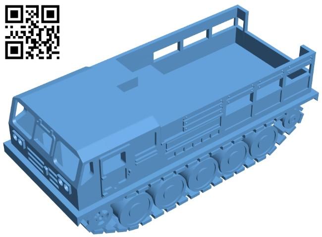 Tank ATS - 59G B009072 file obj free download 3D Model for CNC and 3d printer