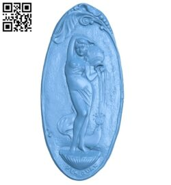 The girl and the vase A006029 download free stl files 3d model for CNC wood carving