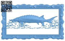 The image of silkworm fish in the river A006081 download free stl files 3d model for CNC wood carving