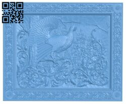 The picture of a wild chicken A006087 download free stl files 3d model for CNC wood carving