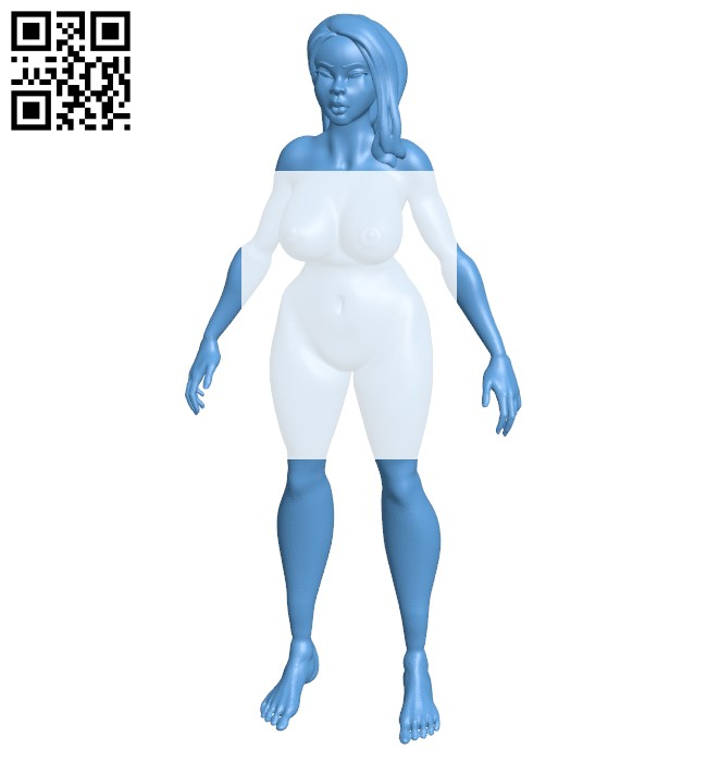 Thick lipped girl B009138 file obj free download 3D Model for CNC and 3d printer
