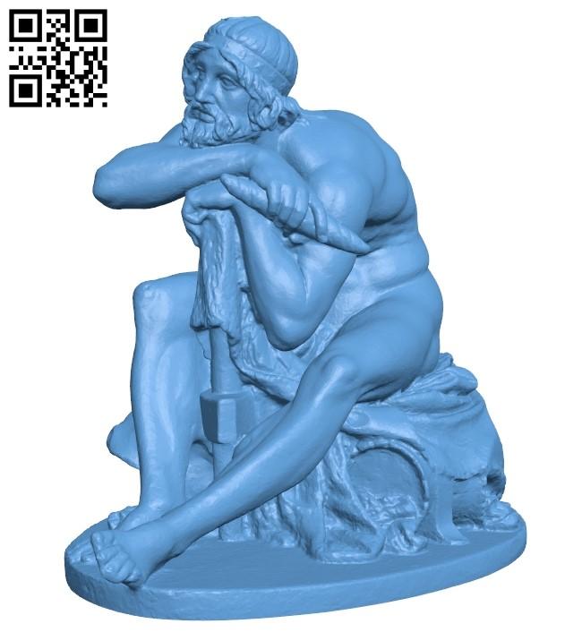 Thorstatue B009126 file obj free download 3D Model for CNC and 3d printer