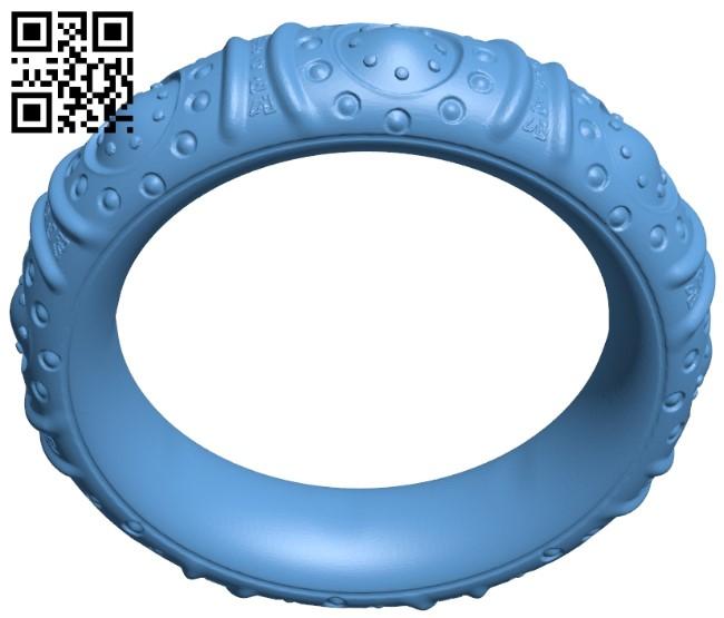 Tibetan Bracelet B009127 file obj free download 3D Model for CNC and 3d printer