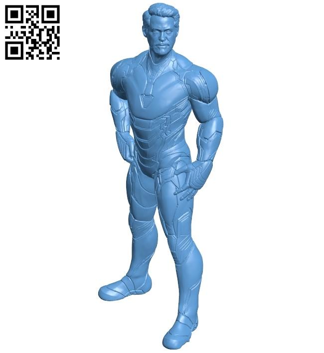 Tony - iron man B009168 file obj free download 3D Model for CNC and 3d printer