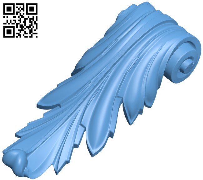 Top of the column A006011 download free stl files 3d model for CNC wood carving