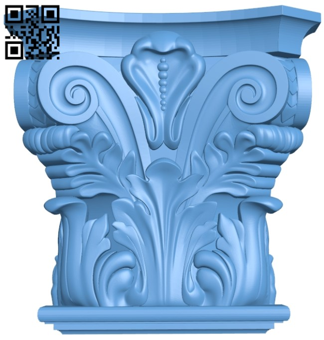 Top of the column A006012 download free stl files 3d model for CNC wood carving