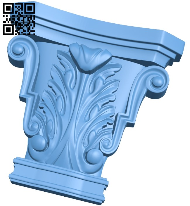 Top of the column A006013 download free stl files 3d model for CNC wood carving