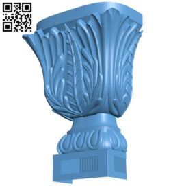 Top of the column A006014 download free stl files 3d model for CNC wood carving