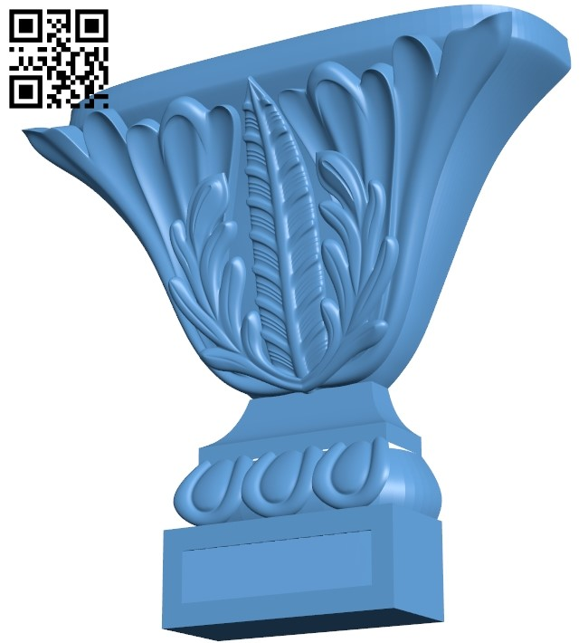 Top of the column A006015 download free stl files 3d model for CNC wood carving