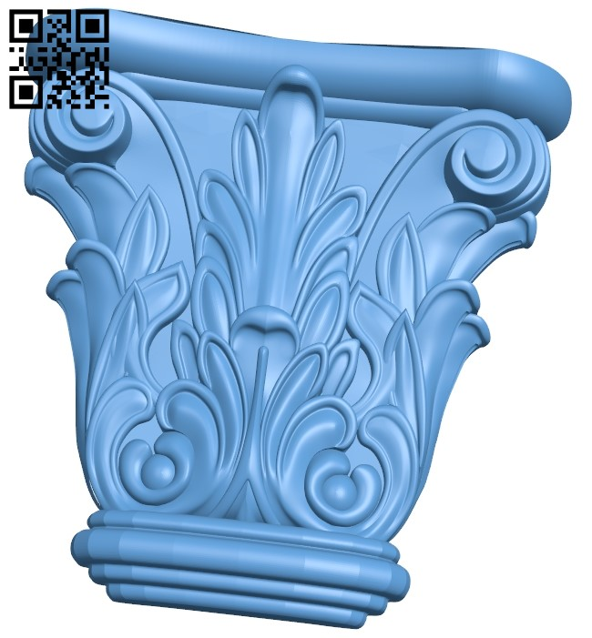 Top of the column A006017 download free stl files 3d model for CNC wood carving