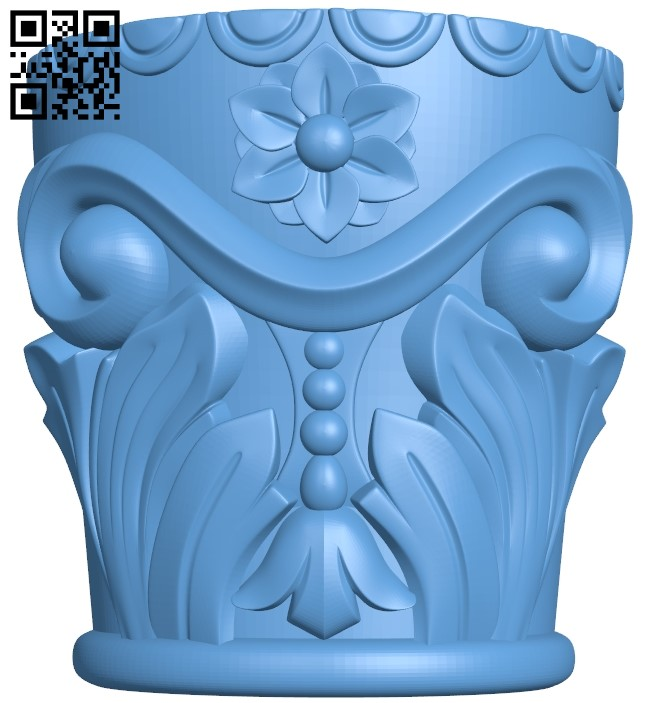 Top of the column A006100 download free stl files 3d model for CNC wood carving
