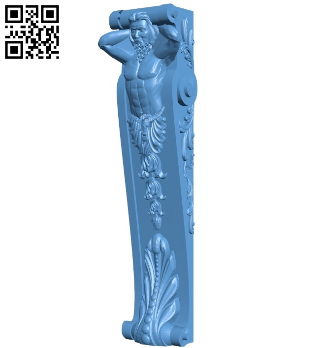 Top of the column A006103 download free stl files 3d model for CNC wood carving