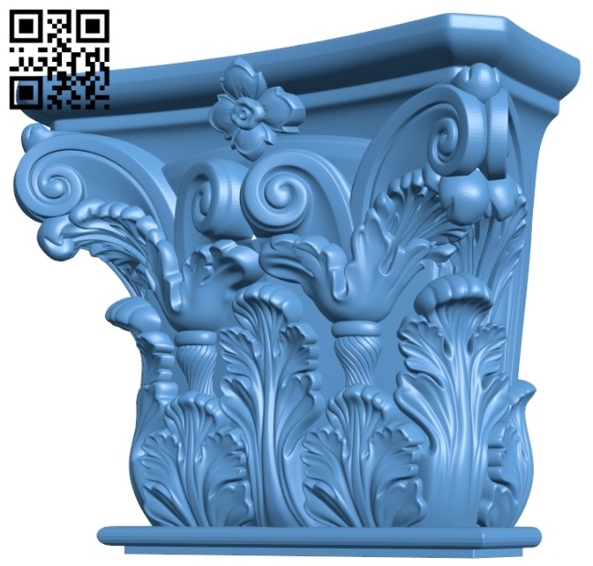 Top of the column A006107 download free stl files 3d model for CNC wood carving