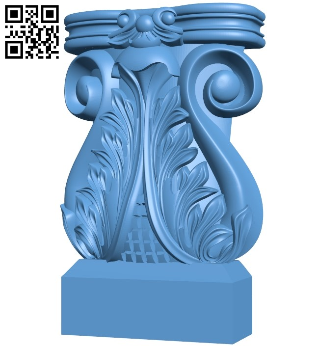 Top of the column A006109 download free stl files 3d model for CNC wood carving