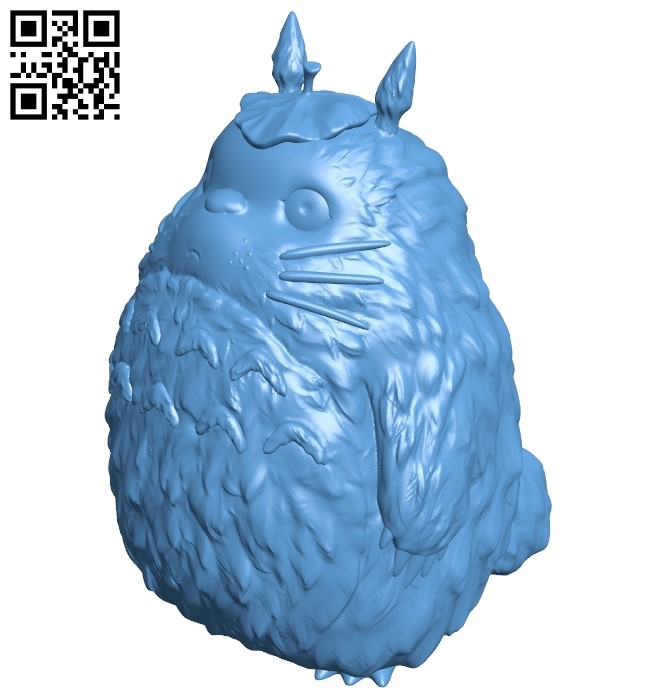 Totoro - My Neighbor Totoro B009162 file obj free download 3D Model for CNC and 3d printer