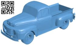 Truck Ford F1 B009146 file obj free download 3D Model for CNC and 3d printer