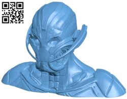 Ultron bust B009167 file obj free download 3D Model for CNC and 3d printer