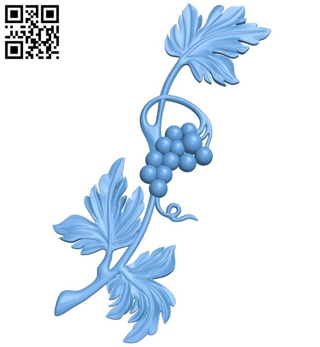 Vine pattern design A006131 download free stl files 3d model for CNC wood carving