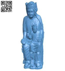 Virgin and Child B009174 file obj free download 3D Model for CNC and 3d printer