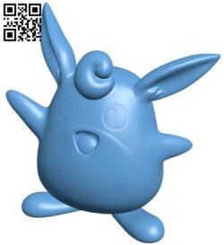 Wigglytuff – Pokemon B009166 file obj free download 3D Model for CNC and 3d printer
