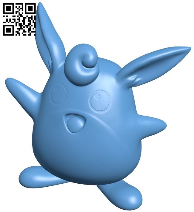 Wigglytuff - Pokemon B009166 file obj free download 3D Model for CNC and 3d printer