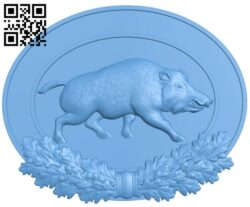 Wild boar painting A006086 download free stl files 3d model for CNC wood carving