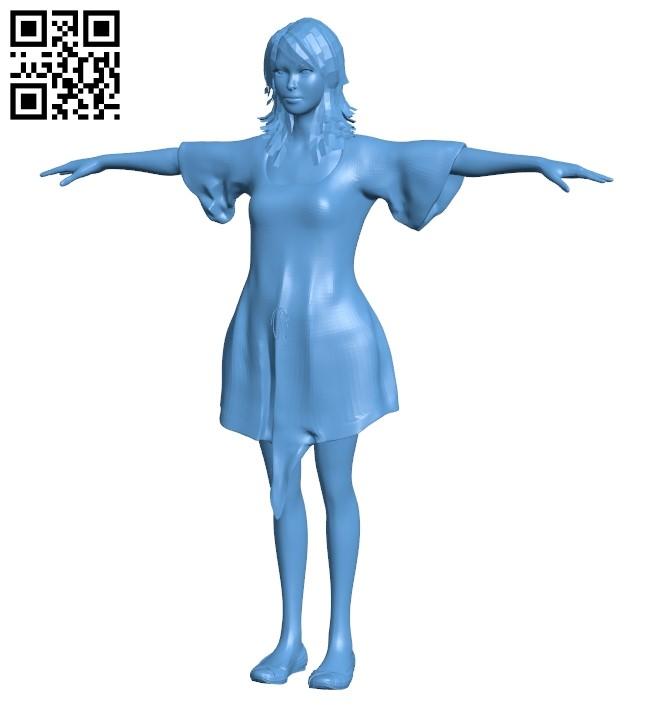 Women hip hop dancer B009096 file obj free download 3D Model for CNC and 3d printer