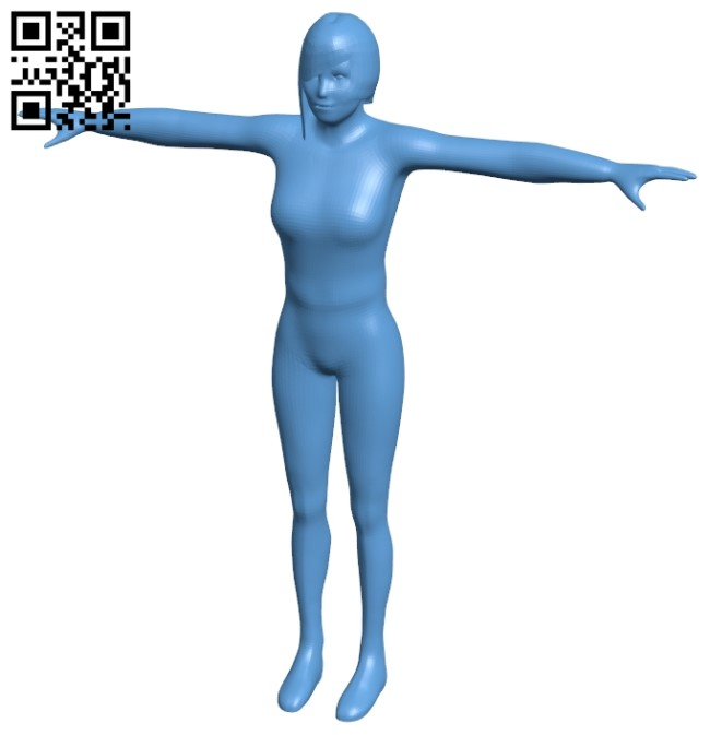 Women - sport B009129 file obj free download 3D Model for CNC and 3d printer