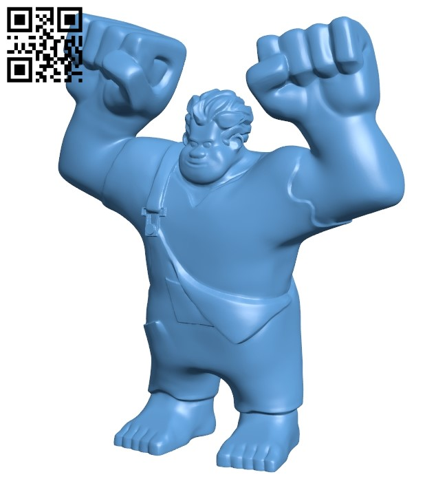 Wreck-It Ralph Print & Paint Toy B009159 file obj free download 3D Model for CNC and 3d printer