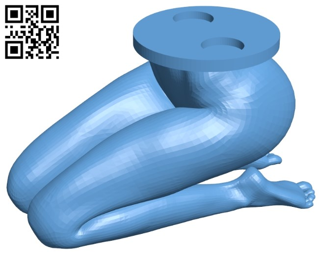 kiss my butt B009140 file obj free download 3D Model for CNC and 3d printer