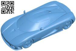 luxury sport car B009067 file obj free download 3D Model for CNC and 3d printer