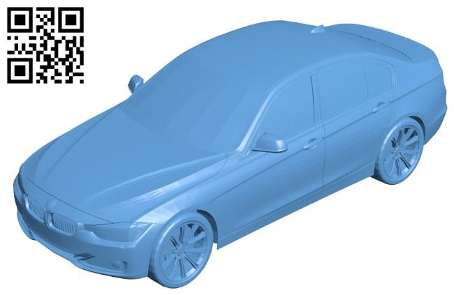 BMW 3 Series - car B009280 file obj free download 3D Model for CNC and 3d printer
