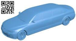 BMW M Limousine – car B009273 file obj free download 3D Model for CNC and 3d printer