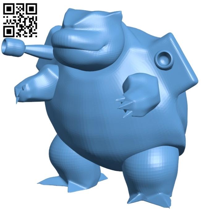 Blastoise - pokemon B009231 file obj free download 3D Model for CNC and 3d printer