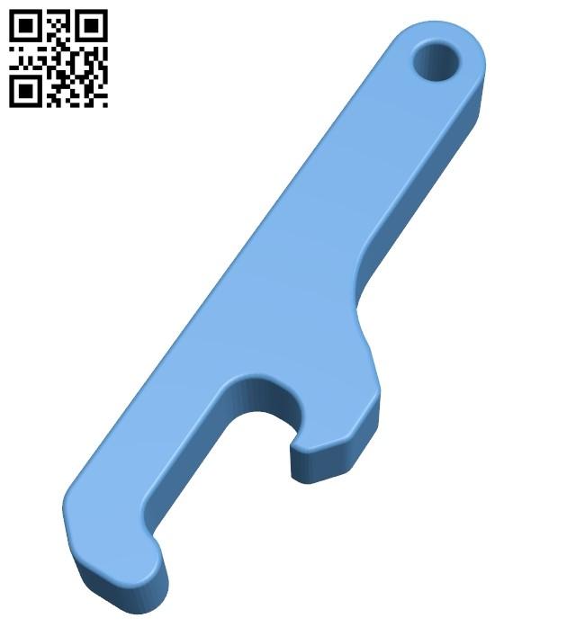 Bottle opener B009371 file obj free download 3D Model for CNC and 3d printer