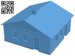 Brick house B009358 file obj free download 3D Model for CNC and 3d printer