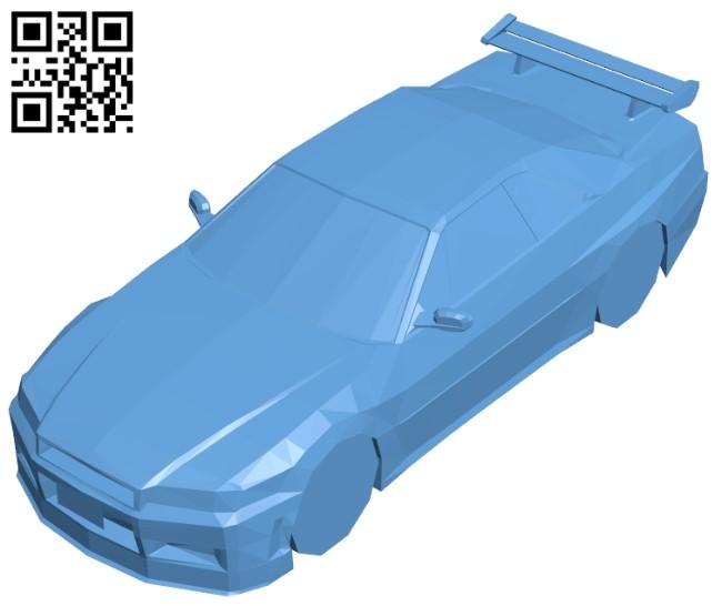 Car nissan skyline B009237 file obj free download 3D Model for CNC and 3d printer