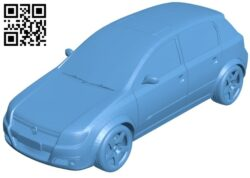 Car opel astra B009360 file obj free download 3D Model for CNC and 3d printer